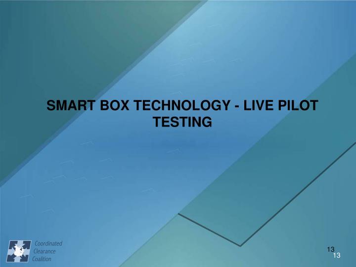 SMART BOX TECHNOLOGY - LIVE PILOT TESTING
