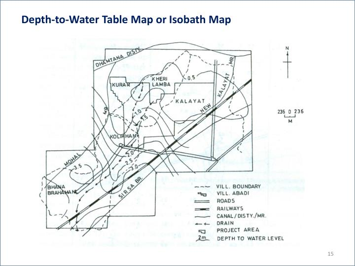 Depth-to-Water Table Map or Isobath Map