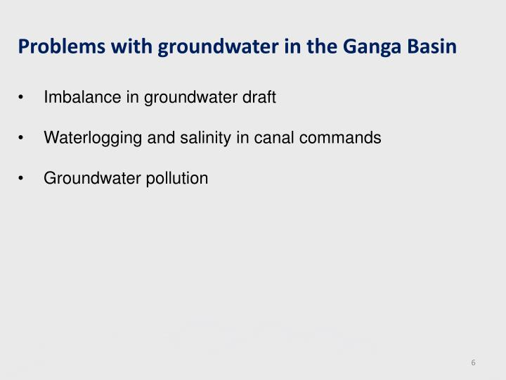 Problems with groundwater in the