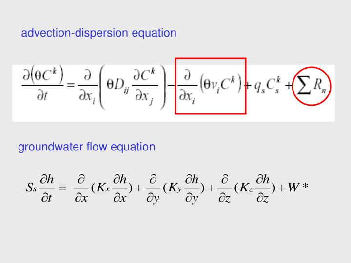 advection-dispersion equation