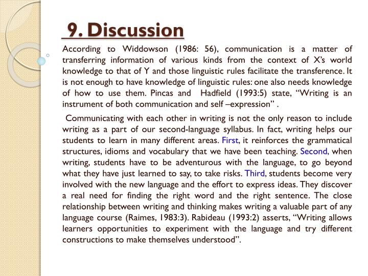 9. Discussion