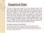 empirical data
