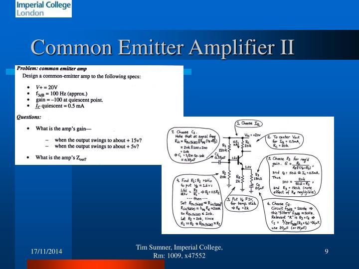 Common Emitter Amplifier II