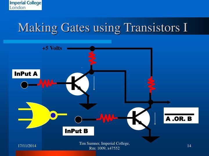 Making Gates using Transistors I