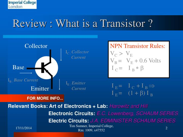 Review : What is a Transistor ?