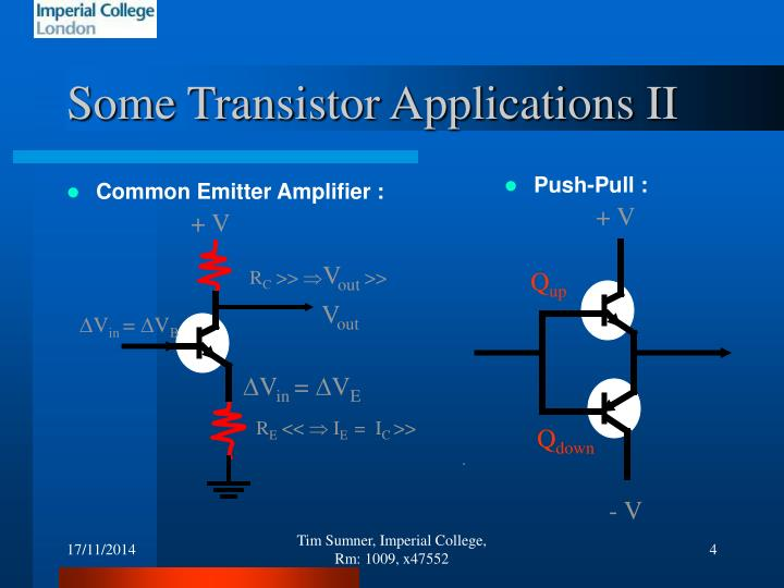 Some Transistor Applications II