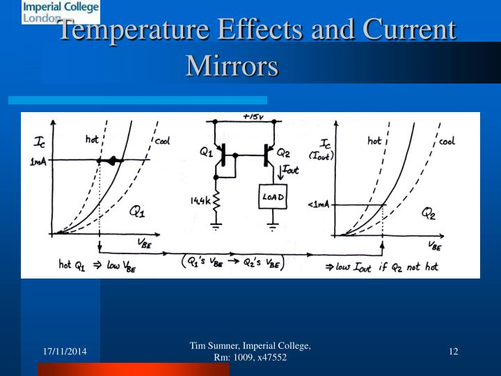 Temperature Effects and Current