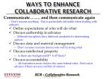 ways to enhance collaborative research