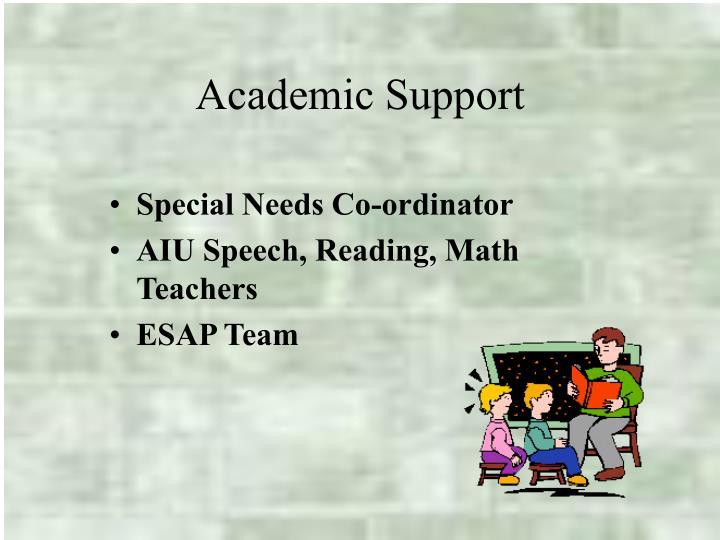 Special Needs Co-ordinator