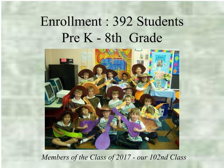 Enrollment : 392 Students