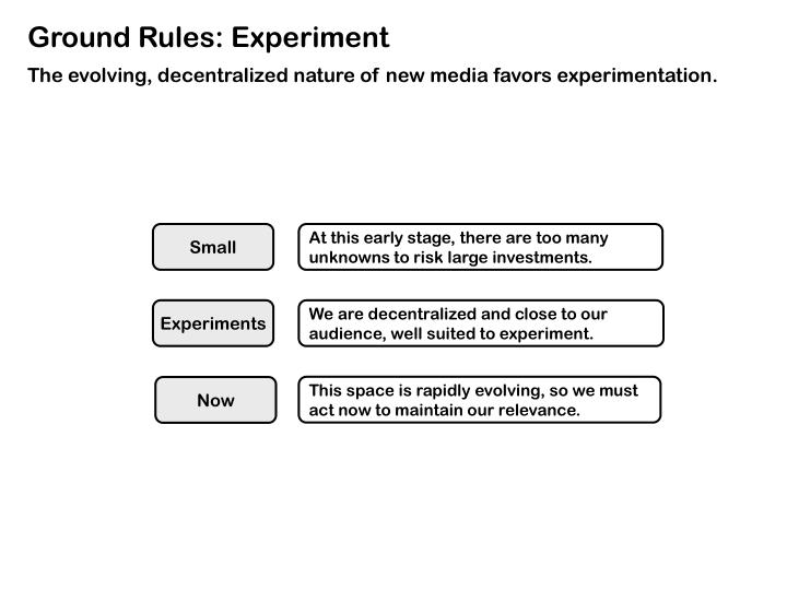 Ground Rules: Experiment