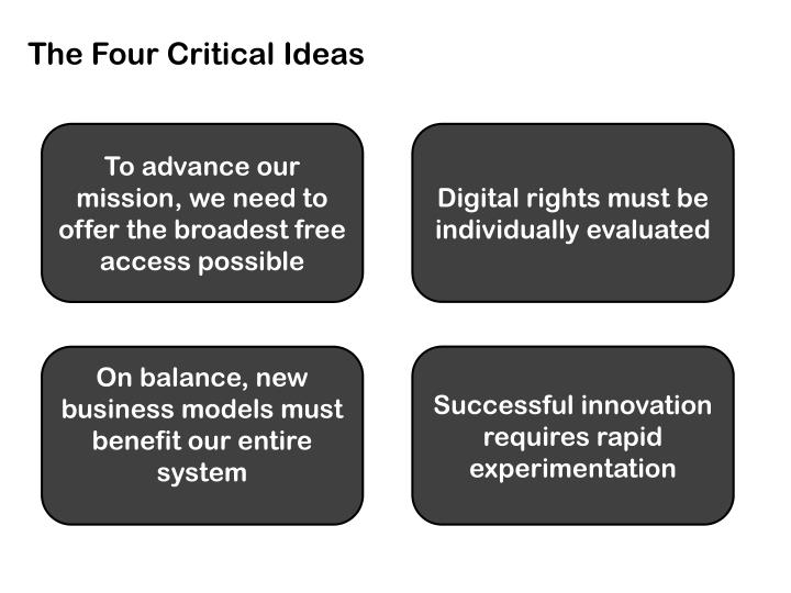 The Four Critical Ideas