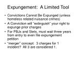 expungement a limited tool