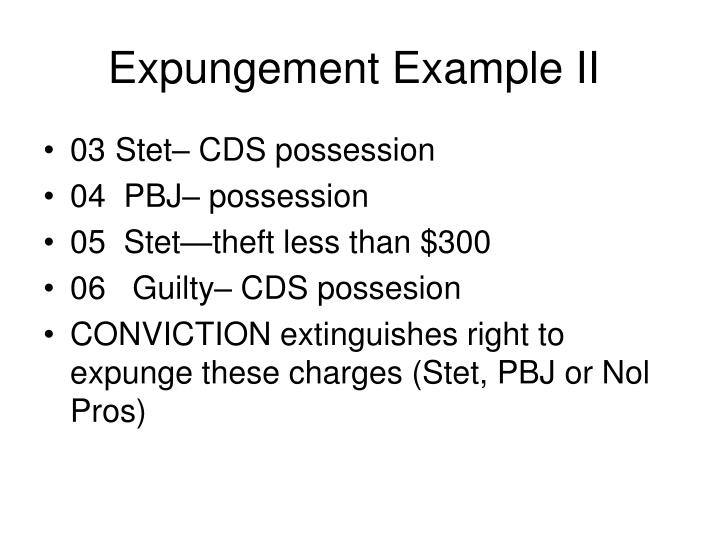 Expungement Example II