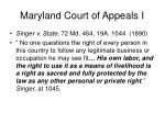 maryland court of appeals i