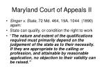 maryland court of appeals ii