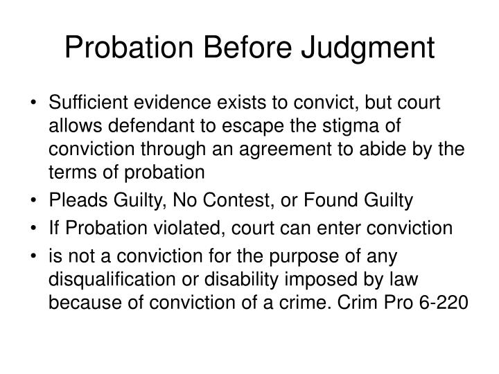 Probation Before Judgment