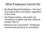 what employers cannot do