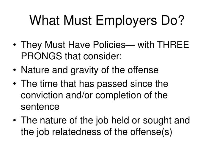 What Must Employers Do?