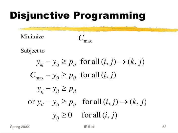 Disjunctive Programming