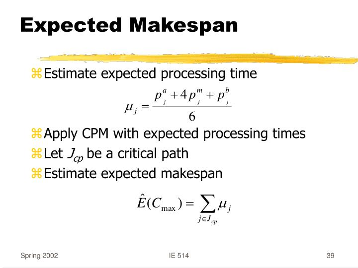 Expected Makespan