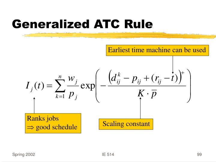 Generalized ATC Rule