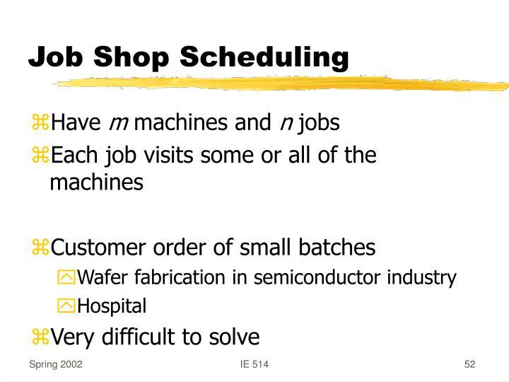 Job Shop Scheduling