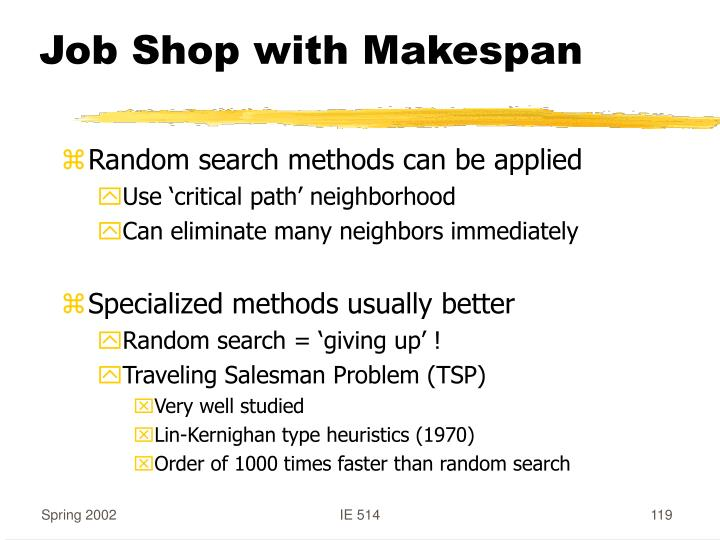 Job Shop with Makespan