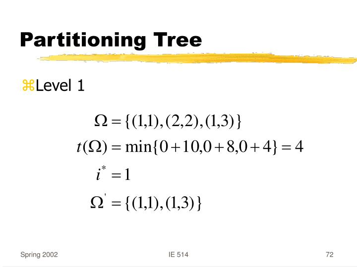 Partitioning Tree