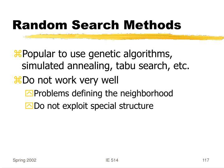 Random Search Methods
