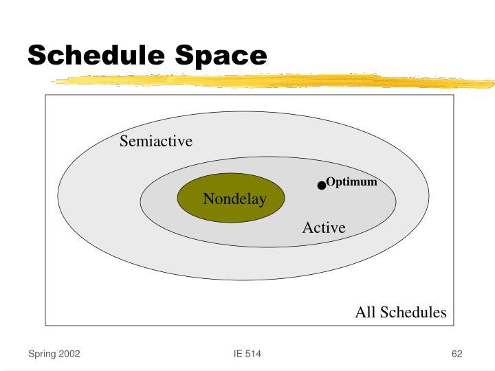 Schedule Space