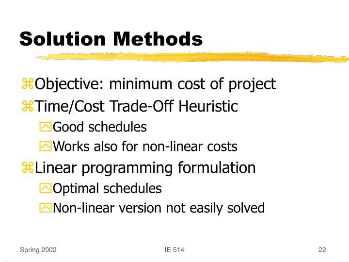 Solution Methods