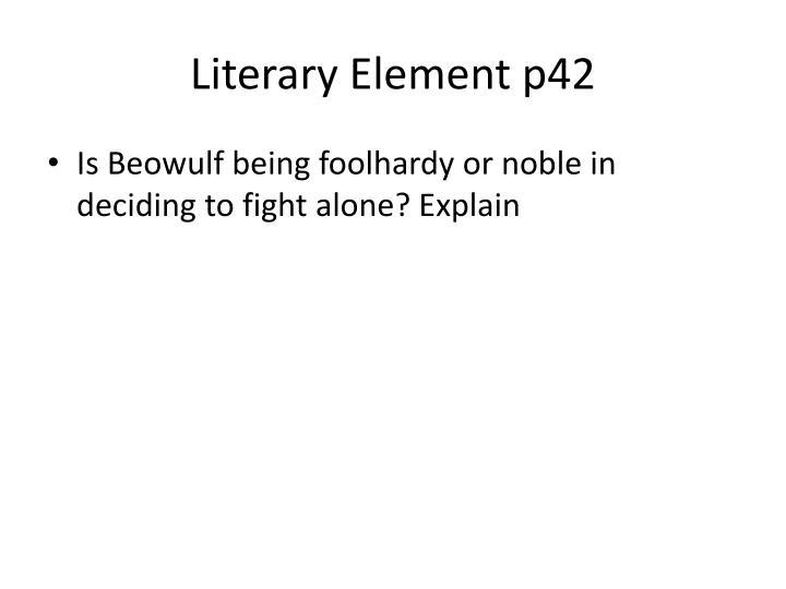Literary Element p42