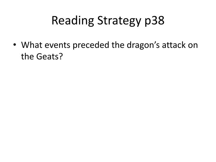 Reading Strategy p38