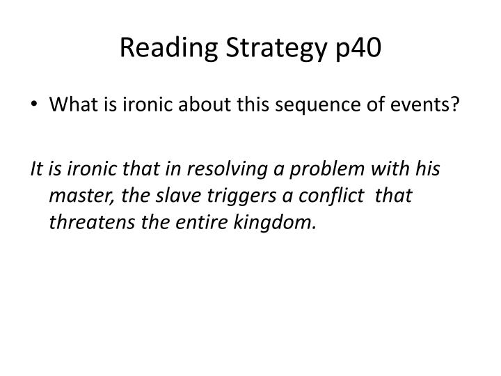 Reading Strategy p40