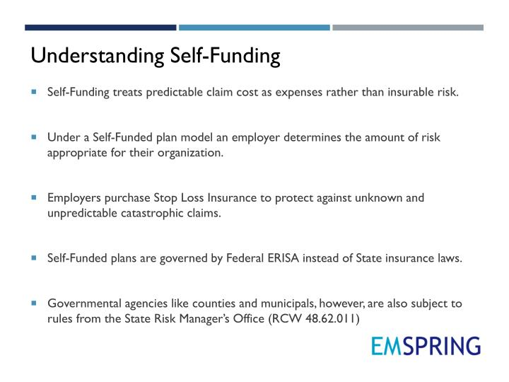 Understanding Self-Funding