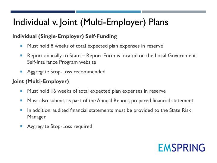 Individual v. Joint (Multi-Employer) Plans