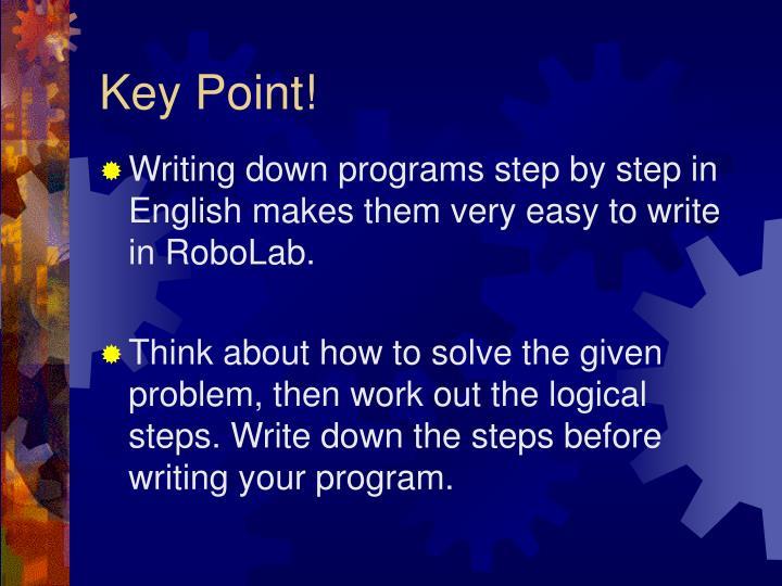 Key Point!