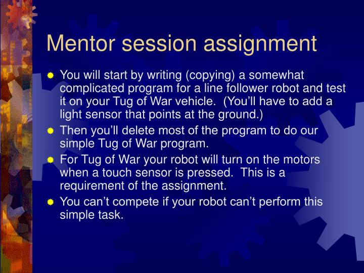 Mentor session assignment