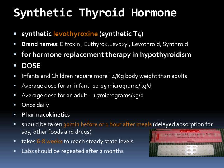 Synthetic Thyroid Hormone
