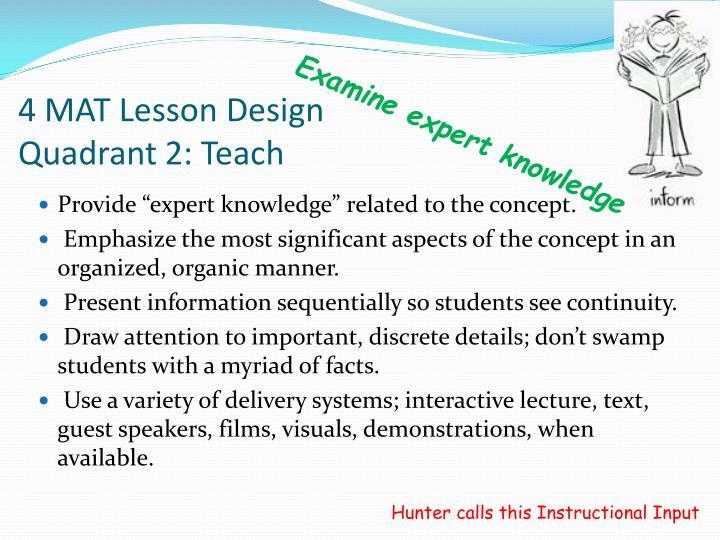 4 MAT Lesson Design