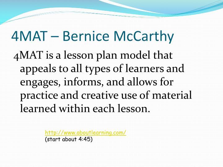 4MAT – Bernice McCarthy