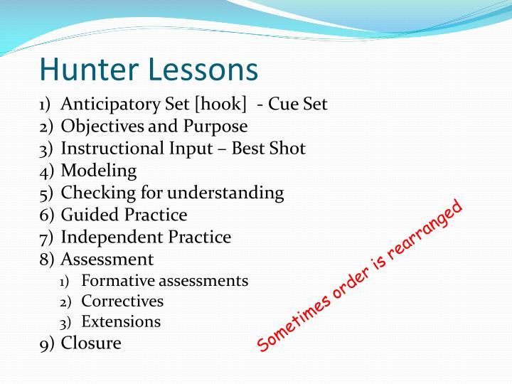 Hunter Lessons