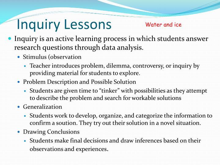 Inquiry Lessons