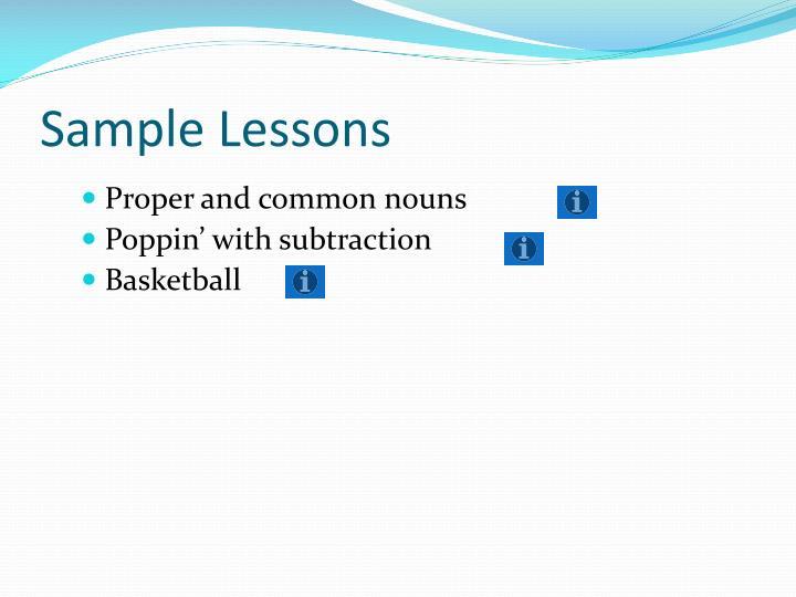 Sample Lessons