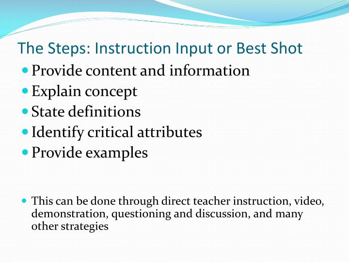 The Steps: Instruction Input or Best Shot
