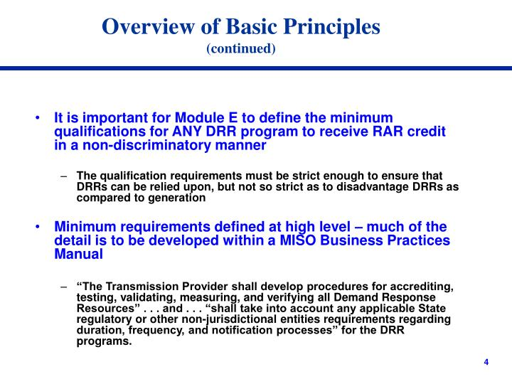 Overview of Basic Principles