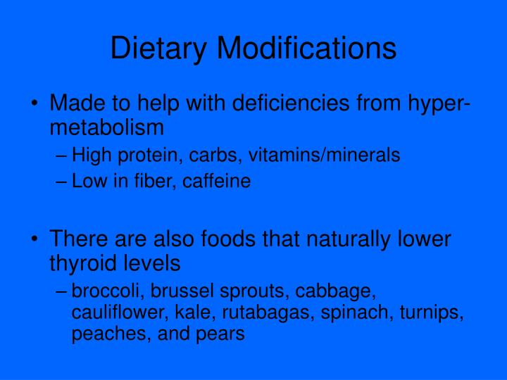 Dietary Modifications