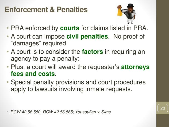 Enforcement & Penalties