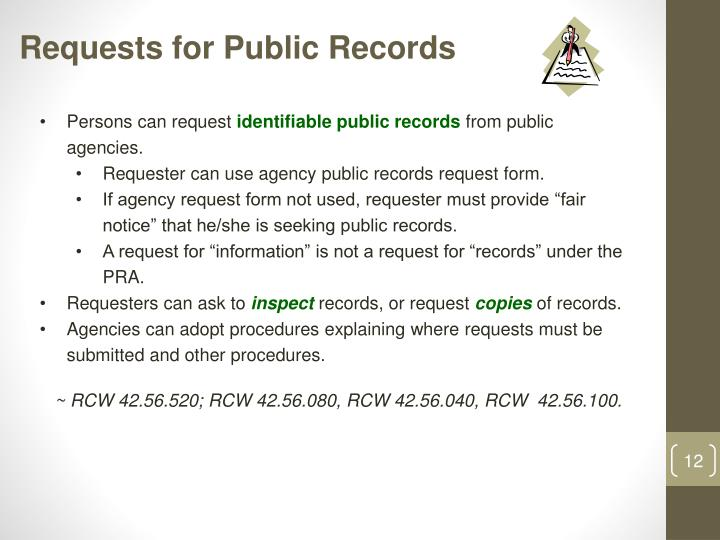 Requests for Public Records